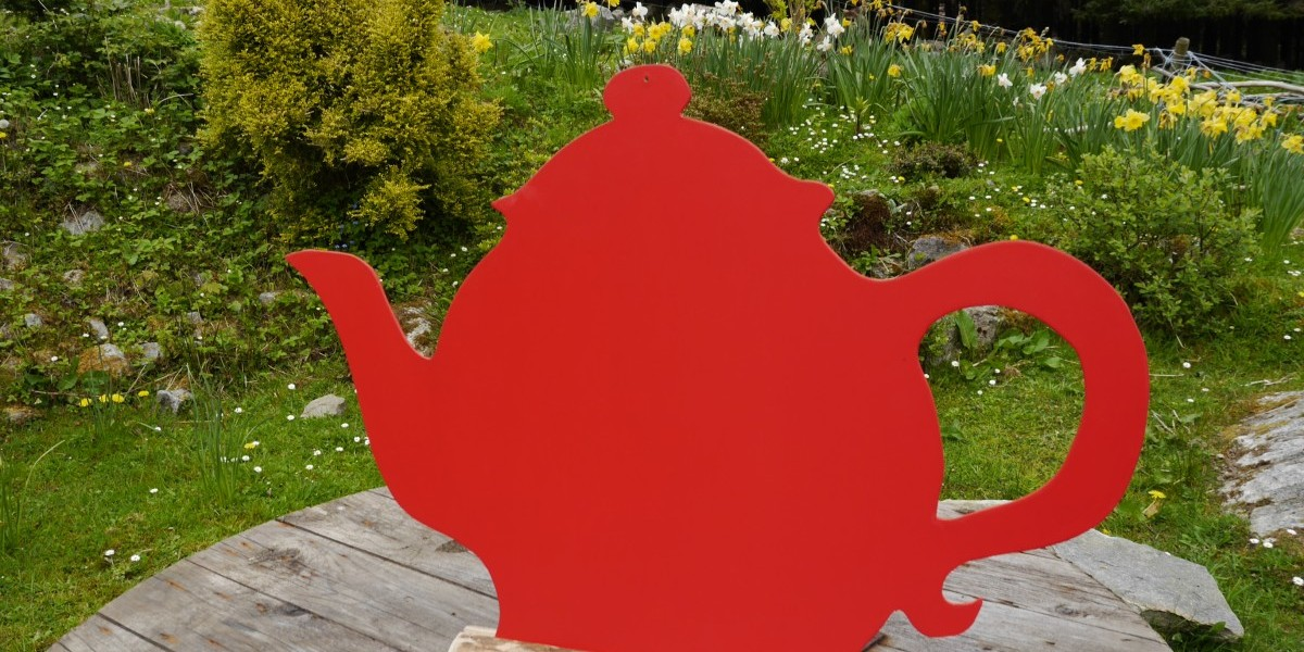 Teapot on table