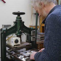 Gold tooling press