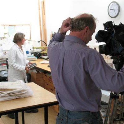 RTE Nationwide filming in the Ox Bindery studio