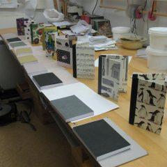 Bookblocks ready to be cased in