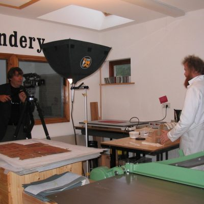Dutch television (BVN)  filming the Ox Bindery and  broadcasted world wide (August 2006)